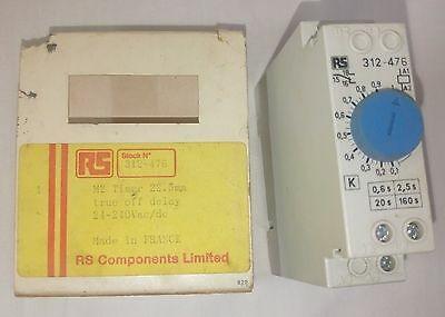 Rs Components 312-476 Timer 0-160s 24-240vac 5060hz Din Rail Mount