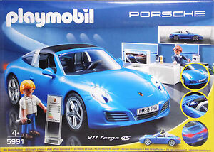 playmobil 5991 porsche targa blau mit lichteffekten. Black Bedroom Furniture Sets. Home Design Ideas