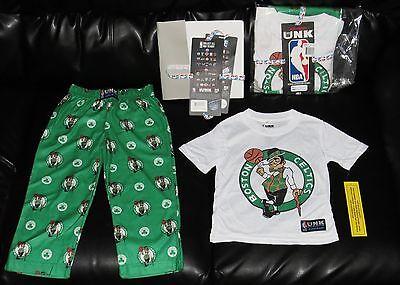 Boston Celtics NBA Store Gift Set Boys 4-6 NEW Kids XS Shirt Pants Lounge 4 5 6