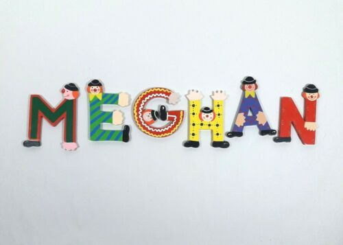 Whimsical wooden painted letters MEGHAN