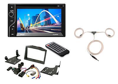 Pyle Touchscreen Bluetooth Radio, Scosche Polaris Dash Kit, Marine Antenna