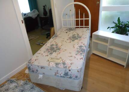 "LIKE NEW ""SINGLE BED WITH B/HEAD, MATTRESS BASE, MATTRESS"""
