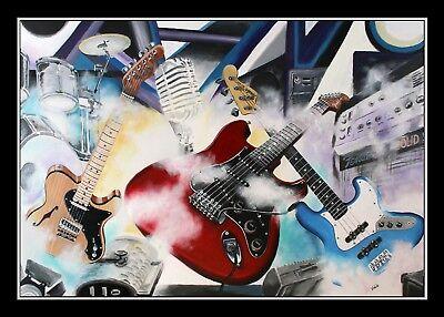 Grafik by Volker Welz Fender Stratocaster Telecaster American Elite Jazz Bass AK