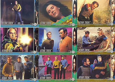 STAR TREK THE ORIGINAL SERIES TOS 2 1998 FLEER/SKYBOX COMPLETE BASE CARD SET 80