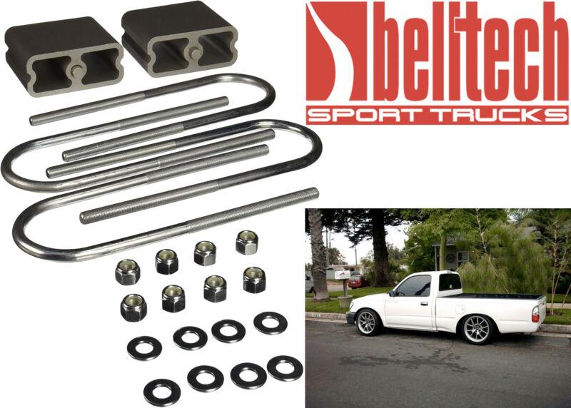 """Belltech 6203 Rear 4"""" Lowering Block Kit & Hardware New Free Shipping Usa"""