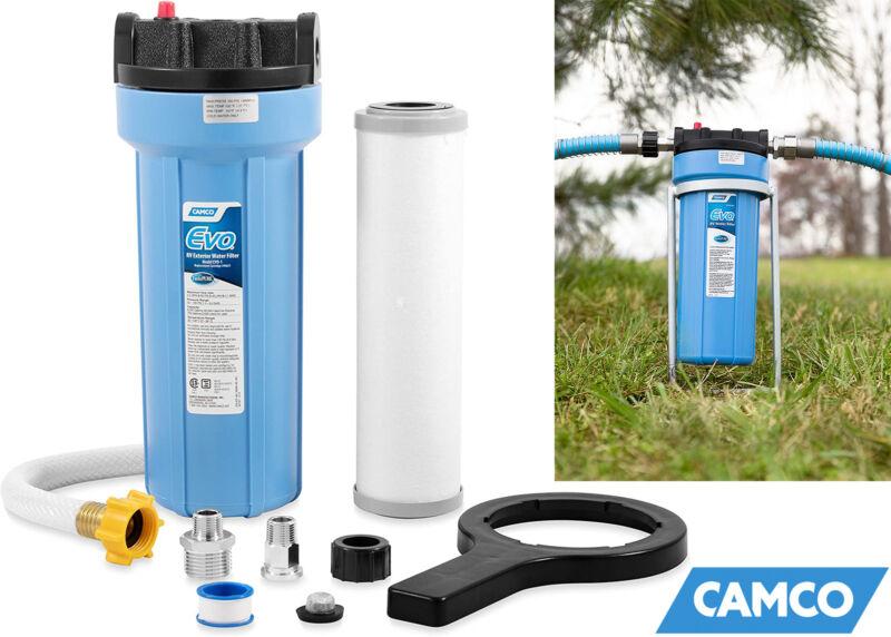 Camco 40631 Evo Premium Rv & Marine Water Filter Greatly Reduces Bad Taste, Odor