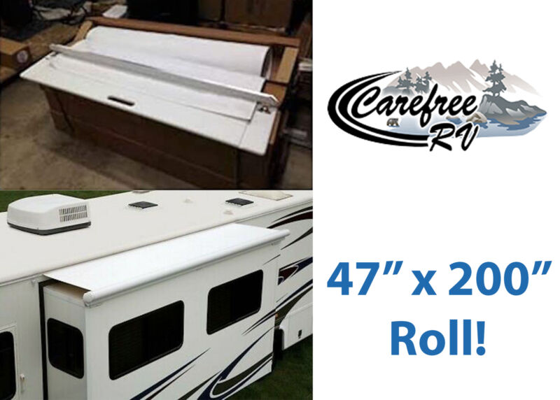 """Carefree Fh2000047 White 47"""" X 200"""" Sideout Kover Ii Roll New Free Shipping Usa"""