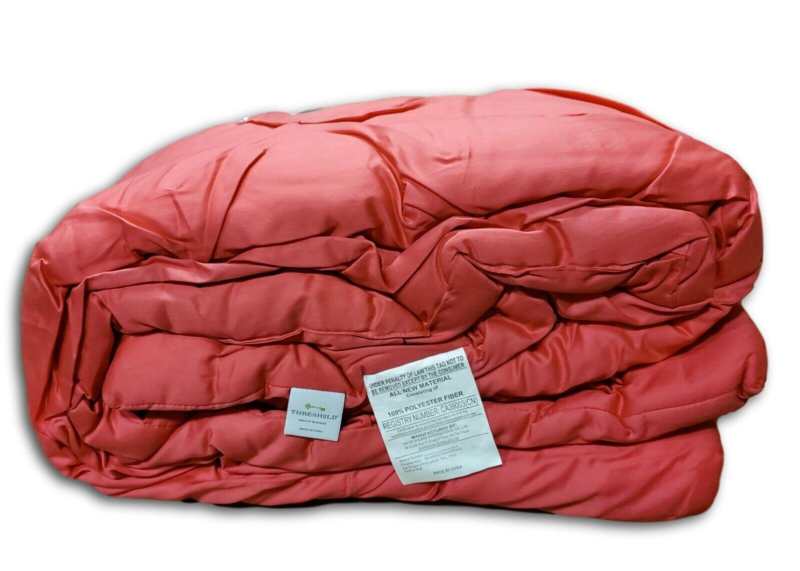 Threshold Pinched Pleat Bedding Comforter Set –  Honeysuckle Rose Pink (Twin) Bedding
