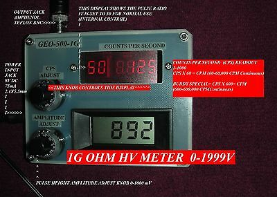 Geoelectronics Blgeo-500-1g-bl Geiger Counter Pulser1g Ohm High Voltage Meter