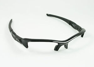 OAKLEY FLAK JACKET POLISHED JET BLACK REPLACEMENT FRAME (FRAME ONLY)