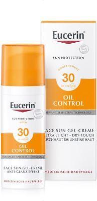 EUCERIN Sun Oil Control anti Glanz LSF 30 Gel Creme 50ml PZN 10832658 + Proben