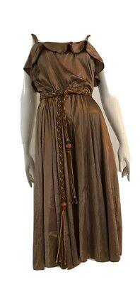80s Dresses | Casual to Party Dresses Authentic Vintage 1980's brown shimmer disco dress $19.33 AT vintagedancer.com