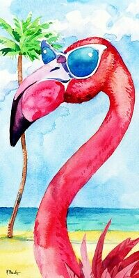 - Flamingo Looking Good Beach Bath Towel 30