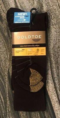 Gold Toe Comfort Brooks 2 Pack Brown Argyle Dress Socks (3B)