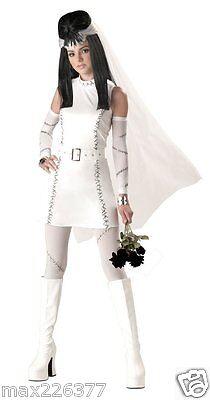 New Frankie's Girl Monster Bride Halloween Costume Teen size 3-5 JR - Frankie's Girl Halloween Costume