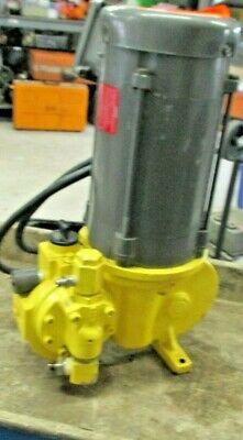 Milton Roy Pump Rh11 241xsesem2nn With Baldor 13 Hp Pump Vl5001a