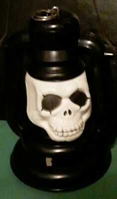 """Spooky  Skeleton CARRYING  Battery OPERATED Light / LANTERN 6""""× 3."""