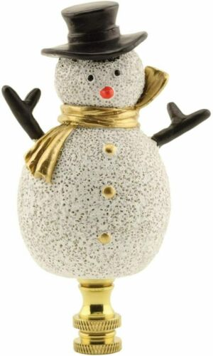 "Christmas Finial Snowman 4"" Holiday Lamp Shade Screw On Topper - Free Shipping"