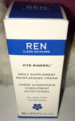 REN Skincare Vita Mineral Daily Supplement Moisturising Cream-1.7 Oz NEW IN