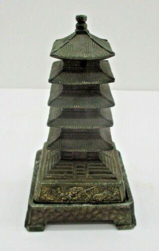Vintage Brass Pagoda Japan - Incense Burner ( Possibly Otagiri )