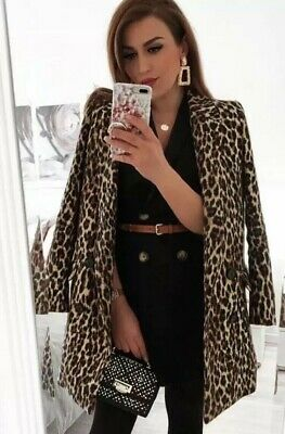 Zara AW18 Leopard Print Jacquard Coat Size S 8157/874 NWT, used for sale  Tomball
