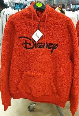 Ladies Disney Red Woollen Hooded Jumper Long Sleeves Primark Bnwt