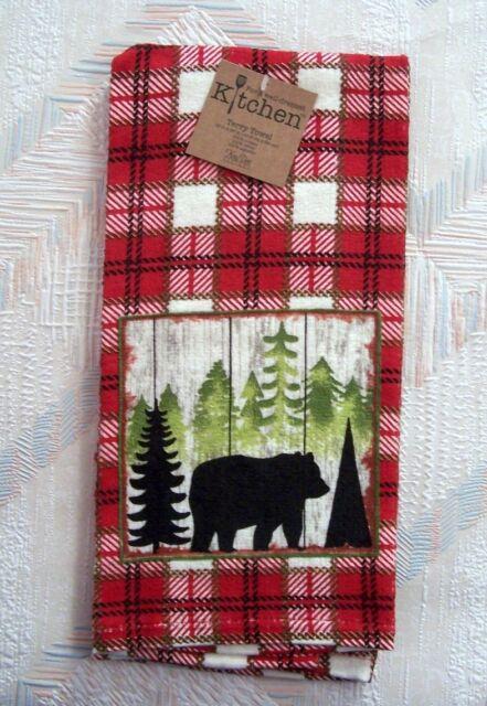 Bear Terry Kitchen Towel Simple Living Bear Pattern Kay Dee