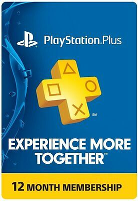 Playstation Plus Membership Card   Sub 1 Year 12 Month   Psn Ps3 Ps4 Fast Ship