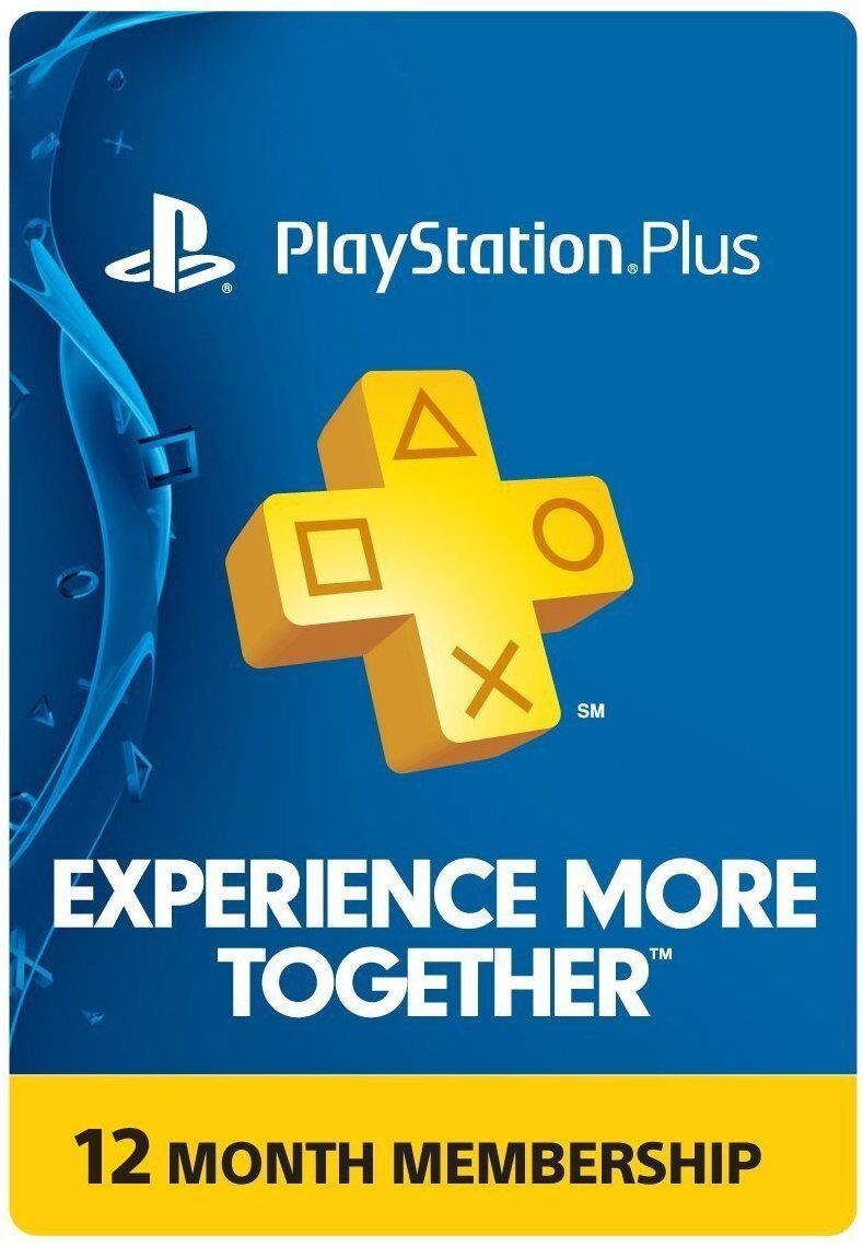 Sony Playstation Plus Membership Card - Sub 1 Year 12 Mon...