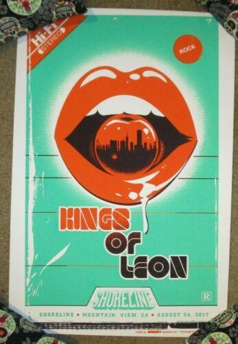 KINGS OF LEON concert gig tour poster print MOUNTAIN VIEW 8-24-17 2017 Malmberg