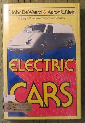 1977 ELECTRIC CARS by E JOHN DE WAARD & AARON E KLEIN Hard Cover Book