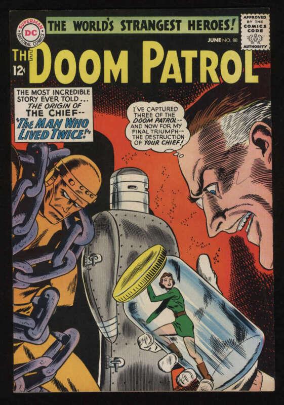 Doom Patrol #88 VF- 7.5 OW Pgs DC Comics