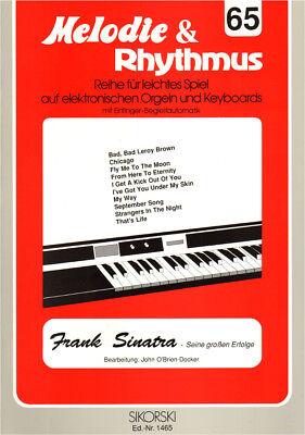 Frank Sinatra Songbook Noten Keyboard sehr leicht