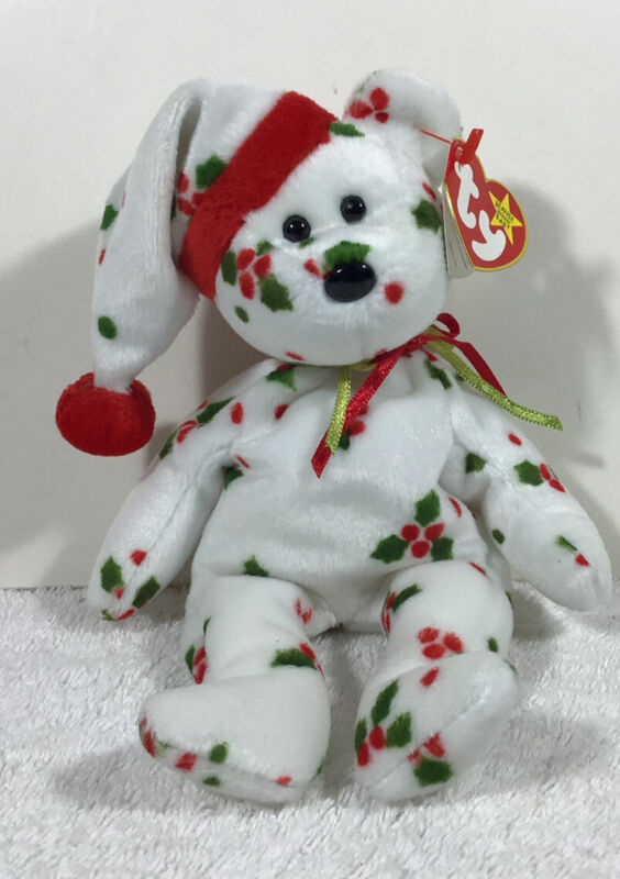 Ty Beenie Baby 1998 Holiday Teddy