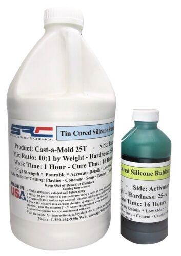 Cast-a-Mold 25T RTV SILICONE MOLD MAKING CASTING RUBBER 1/2 GALLON KIT