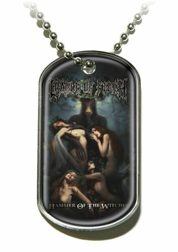 Dog Tag Cradle Of The Filth Hammer Of The Witches Official Pendant Necklace
