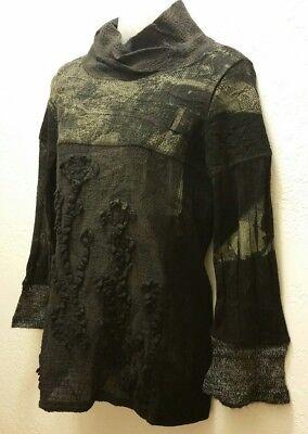 Yoshi Yoshi By PJ Sweater Top Black Gray Wool Sz S M](Yoshi Yoshi By Pj)