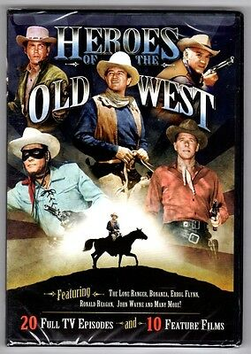 Heroes Of The Old West  4 Disc Set  2011  20 Tv Episodes  10 Feature Films   New