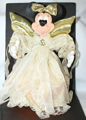 Disney Minnie Mouse Christmas Tree Topper Holiday Angel Animated Lights W/ Box