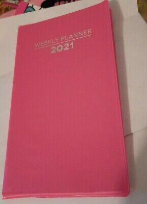 2021 Weekly Pocket Planner Purse Calendar Pink