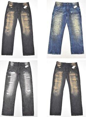 $55 NWT Mens Southpole Jeans Distressed Slim Straight 5-Pocket Denim Urban N550 5 Pocket Distressed Denim Jeans