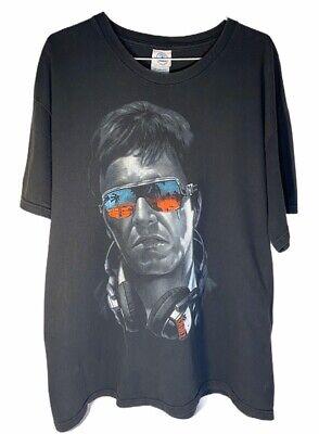 Scarface Tony Montana Mens XL Shirt Vintage Delta Pro-weight Black Graphic Tee