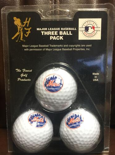 New York Mets 3 Pack of Team Logo Golf Balls MLB Baseball Sp