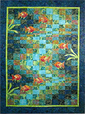 Molokini Bay Bargello Ocean Fish Quilt Pattern Quilting Time ()