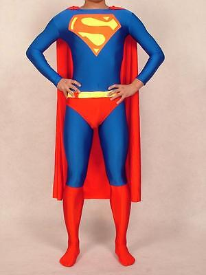 NEW.Adult Superman Costume, Skin-tight, made of Lycra Spandex, classic Red& Blue - Red Skin Costume