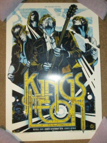 KINGS OF LEON concert gig tour poster print NEWCASTLE 3-22-09 2009 Rhys Cooper