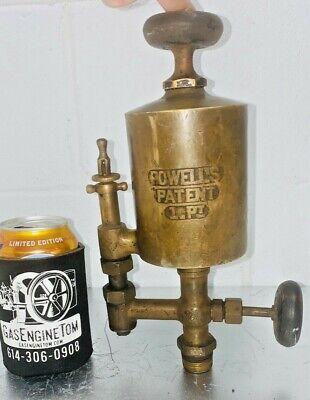 Powells 1 Pint Brass Oiler Hit Miss Steam Gas Engine Antique Powell 34