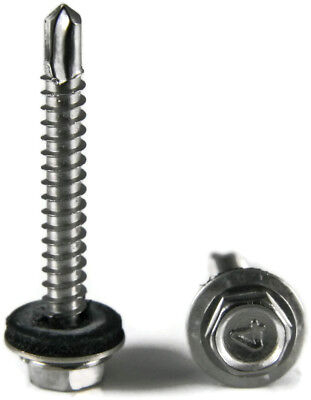 14 Metal Roof Siding Screw Stainless Steel Roofing Screws W Epdm Washer Qty 25