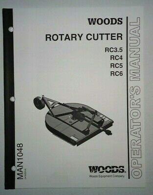 Woods Rc3.5 Rc4 Rc5 Rc6 Rotary Cutter Mower Operators Parts Manual Catalog