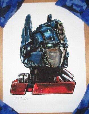 TRANSFORMERS OPTIMUS PRIME poster print Shiny Objects giclee TIM DOYLE Transformers Prime-poster